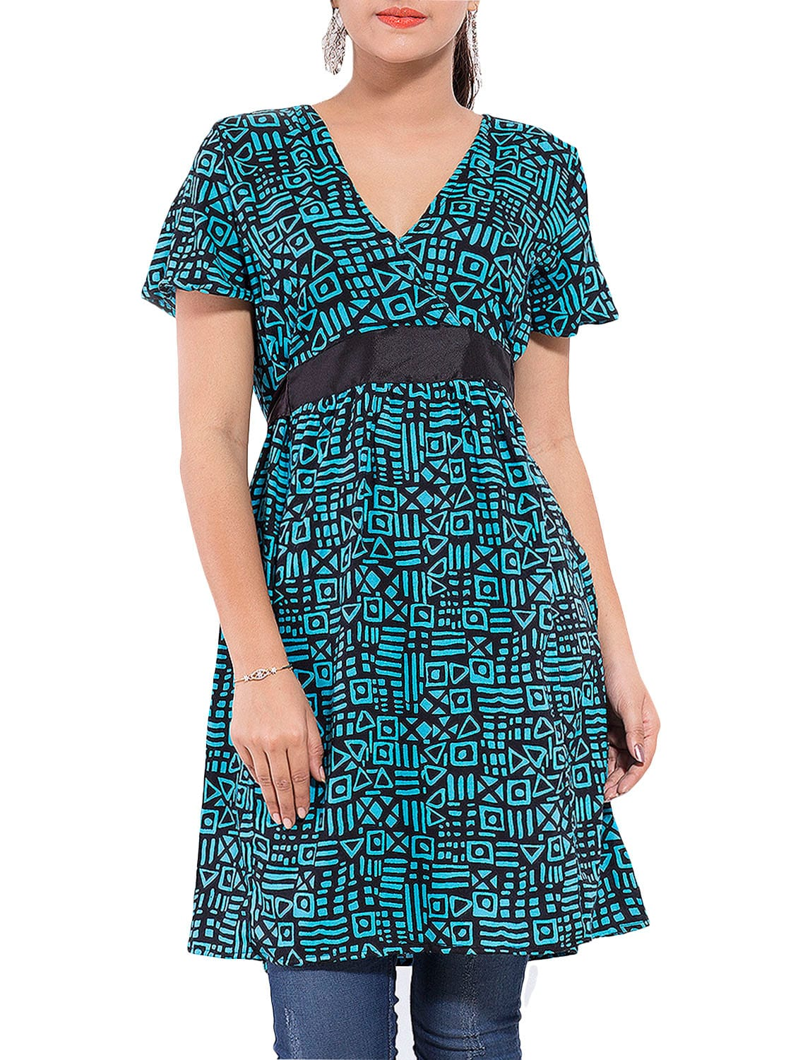 12d3489cd5e Buy Green Rayon Printed Tunic for Women from Goodwill for ₹519 at 48% off |  2019 Limeroad.com