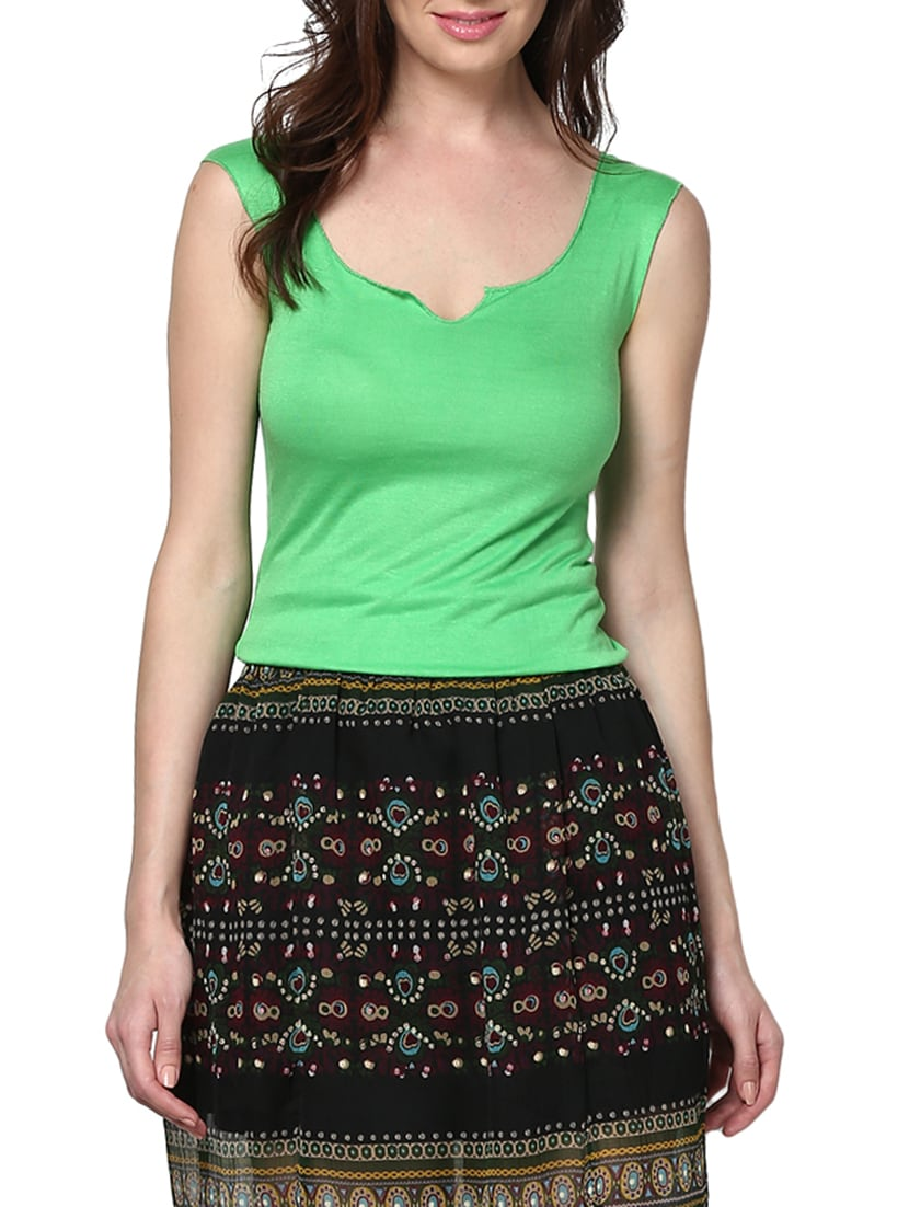 675bd69b03e035 Buy Set Of 2 Solid Spring Green Viscose Tops for Women from Trend 18 for ₹ 849 at 37% off
