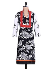 Black And White Printed Kurti - By