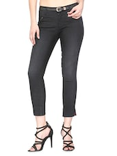 Black Stone Washed Denim Jeans - By - 9679842