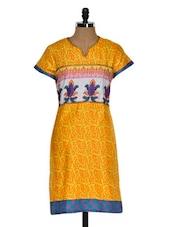 Paisley Print Multi Color Short Sleeve Kurta - Chitwan Mohan
