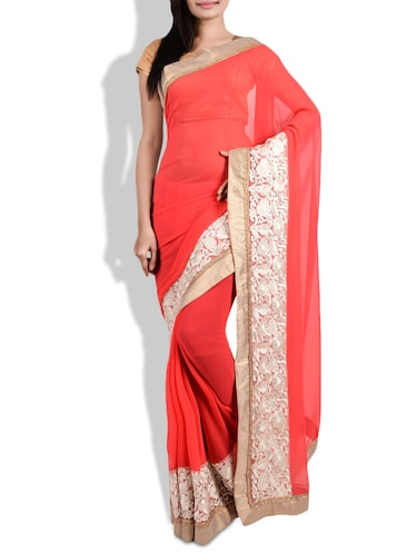 Jhumka Gira Re Buy Red Sarees With Black Pumps Scrapbook Look By Usha