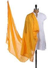 Yellow Cotton Plain Dupatta - Dupatta Bazaar
