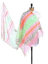 Multicolor Chanderi Silk Printed Dupatta - Dupatta Bazaar