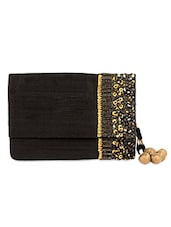 Black sequined raw silk Ipad case -  online shopping for Mobile covers