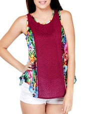 Fantastic Floral Printed Poly Georgette Top - Palette
