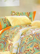 Paisley Print Royal Yellow Bed Linen With Pillow Covers - Skap