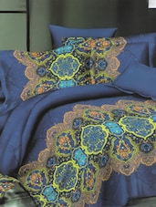 Lovely Printed Blue Bed Linen With Pillow Covers - Skap