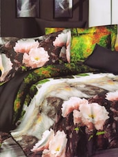Gorgeous Floral Printed Soothing Bed Linen With Pillow Covers - Skap