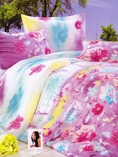 Gorgeous Floral Printed Bed Linen With Pillow Covers - Skap