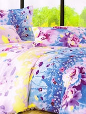 Floral Printed Bed Linen With Pillow Covers - Skap