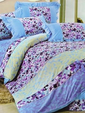 Gorgeous Orchid Printed Bed Linen With Pillow Covers - Skap