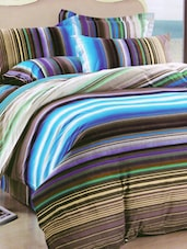 Multicolored Striped Bed Linen With Pillow Covers - Skap