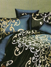 Royal Printed Black Bed Linen With Pillow Covers - Skap