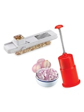Combo Of Onion Chopper & 2 In 1 Slicer - 10 - Amiraj