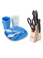 Combo Of Picnic Set & Knife Block Set - 16 - Amiraj