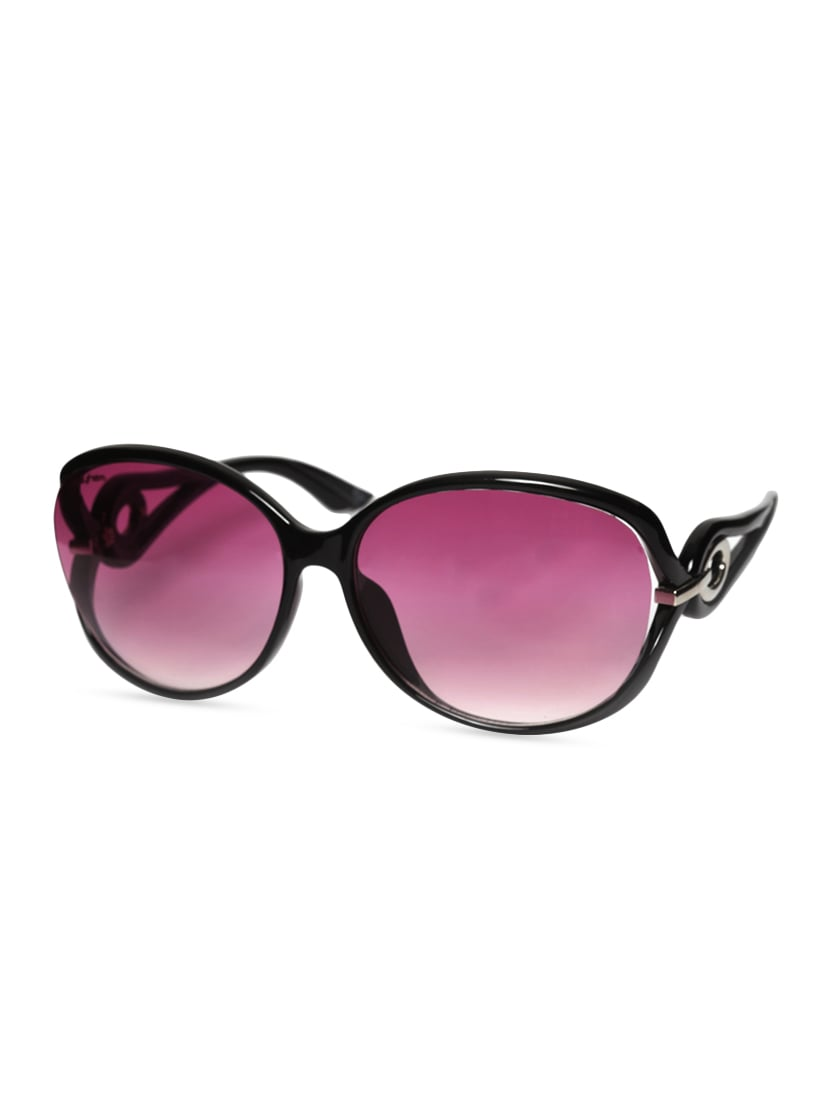 28c8459543 Buy Black Oval Shaped Sunglasses With Pink Lens by Mayhem - Online shopping  for Sunglasses in India