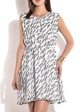 Off White Printed Sleeveless Dress - By