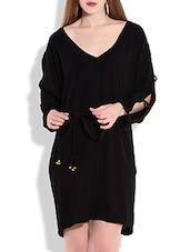 Black Moss Georgette Dress - By