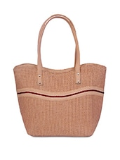 Brown Jute Handbag - By
