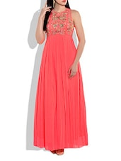 Neon Orange Polyester Dress - By