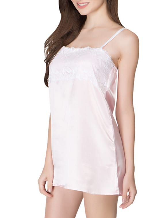 low price online here online store baby pink satin night slip