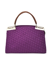 Set Of 2 Faux Leather Handbag With Pouch - By