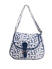 Blue Cute Floral Print Sling Bag - Art Forte