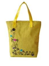 Style Me Up Yellow Jute Handbag - Earthen Me
