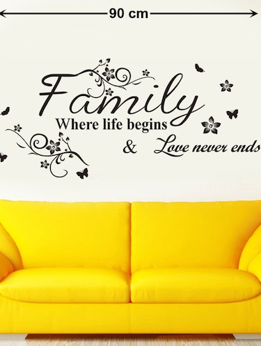 Wall Decals Wall Quote Family Where Life Begins - 9725187 - Standard Image - 1