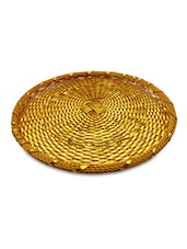 golden Aluminum tray and bowl set -  online shopping for Decorative Trays & Bowls