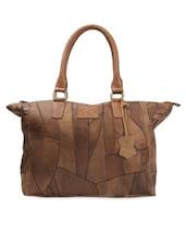 Textured Brown Hand Bag - THIA