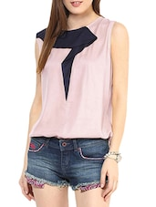 Sleeveless Pink Top - By