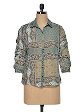 Multicolored Printed Polyester Shirt - Oxolloxo