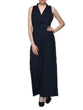 Blue  Polyester Jumpsuit - Oxolloxo