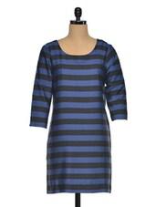 Multicolored Striped Polyester Tunic - Oxolloxo