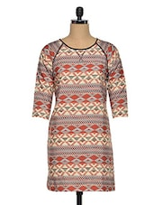 Women'S Printed Polyester Tunic - Oxolloxo