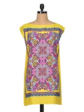 Multicolored Boat Neck Shift Dress - Oxolloxo