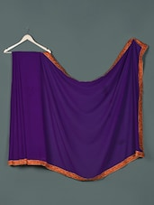 Purple Georgette Designer Party Wear Saree - Aakriti