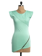 Mint Green Lace Single Jersey Top - VEA KUPIA