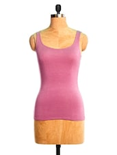 Pink Sleeveless Body Fitted Top - VEA KUPIA