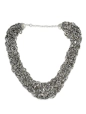 Grey Glass Beads Necklaces - By