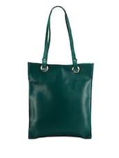 Deep Green Leatherette Bag - Bags Craze