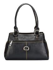 Simple Black Leatherette Handbag - Bags Craze