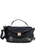 Solid Black Hand-held Bag - Bags Craze
