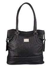 Classic Black Leather Tote - Bags Craze