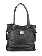 Black Leather Handbag - Bags Craze