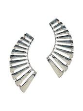 Designer Metal Alloy Silver Ear Cuff For Single Ear - Fayon