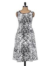 White Black  Midi Dress - Magnetic Designs