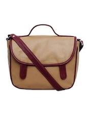 Brown Sunflap Sling Bag - La Volsa